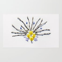 Spring flowers and branches I Rug