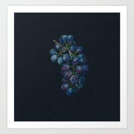 Black Grape Art Print