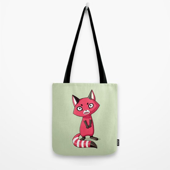 Shy Raccoon Tote Bag
