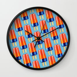 Popsicle Pattern - Rainbow Wall Clock
