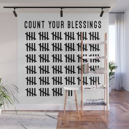 Count Your Blessings Wall Mural