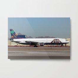American Trans Air Lockheed L-1011 Metal Print