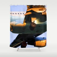 plane Shower Curtains featuring Plane by Luc Girouard