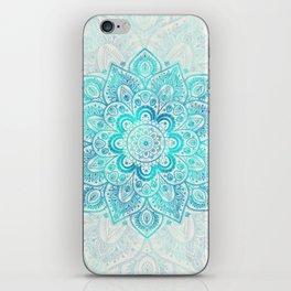 Turquoise Lace Mandala iPhone Skin