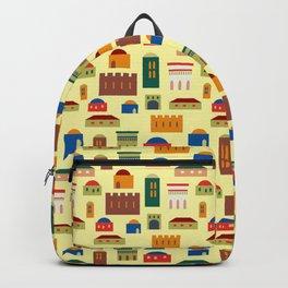 Jerusalem village-city pattern Backpack