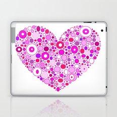 Retro Pink Heart Laptop & iPad Skin
