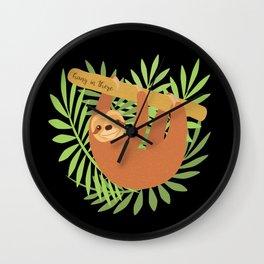 Sloth-y Days Wall Clock