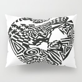 Diamond, Black/White Abstract (ink drawing) Pillow Sham