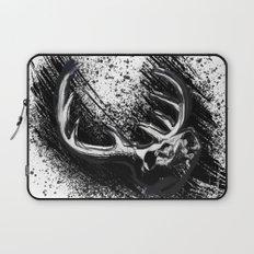 Deer Skull Inksplash Laptop Sleeve
