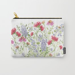Flowering Meadow - Watercolor Carry-All Pouch