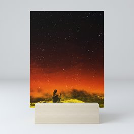Burning Hill Mini Art Print