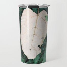 Nature Walk 001 - White Leaf Travel Mug