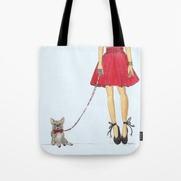 Zoe and her Frenchie Tote Bag