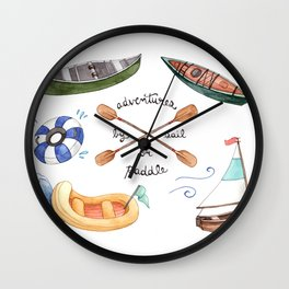 Adventures by Sail or Paddle Wall Clock