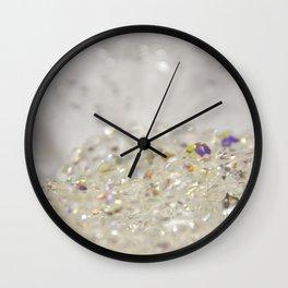 White Crystals Bokeh Wall Clock
