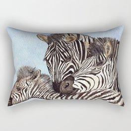 Zebra Cuddles Rectangular Pillow