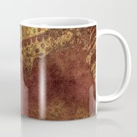 degas Mugs featuring Dark yet warm forest by zawij