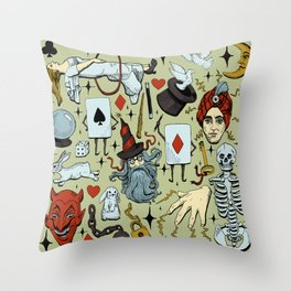 Antique Magic Starter Pack Color Throw Pillow