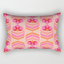 flowers geometry - pattern no1 Rectangular Pillow