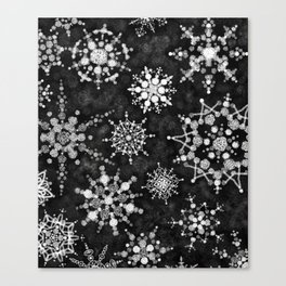 Gray Snowflakes Canvas Print