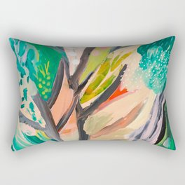 tree and leaf : abstract painting Rectangular Pillow