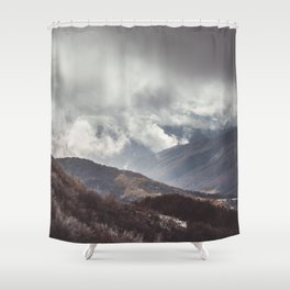 Waiting for the sun - Landscape and Nature Photography Shower Curtain