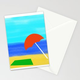 Metaphysical Penguin Beach Day Stationery Cards
