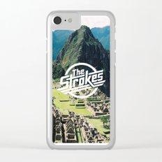 The Strokes Logo Machu Picchu Clear iPhone Case