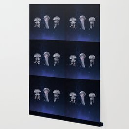 Flying Jellyfish Wallpaper