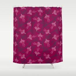Pink Fuchsias in Bloom Shower Curtain