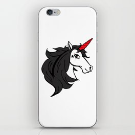 Emo Cartoon Gothic Unicorn iPhone Skin