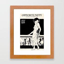 Opportunity Magazine Cover: A Journal of Negro Life Framed Art Print