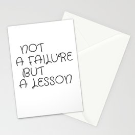 Not A Failure But A Lesson Motivate Quote / Motivational Inspirational Message/ Empower / Fearless Stationery Cards