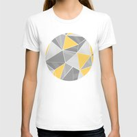 yellow pattern T-shirts featuring Pattern, grey - yellow by Lindella