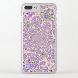 Pretty Lavender Garden Clear iPhone Case