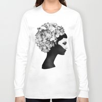 illustration Long Sleeve T-shirts featuring Marianna by Ruben Ireland