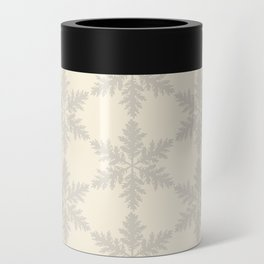 Snowflake foliage cream beige Can Cooler