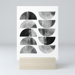 Mid-century Modern Black & White Geometric Mini Art Print