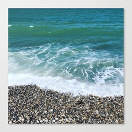 Fécamp beach Canvas Print
