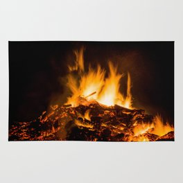 Fire flames Rug