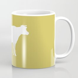 Cow: Mustard Yellow Coffee Mug