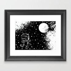 DINOSAUR IN SPACE! Framed Art Print