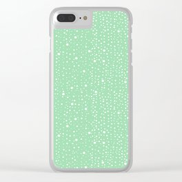 Stripey Dots Pattern Clear iPhone Case