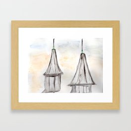 Twin Spires Churchill Downs Watercolor Art Louisville, Kentucky Framed Art Print