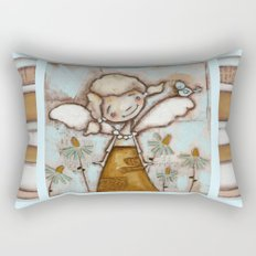 I Am Listening - by Diane Duda Rectangular Pillow
