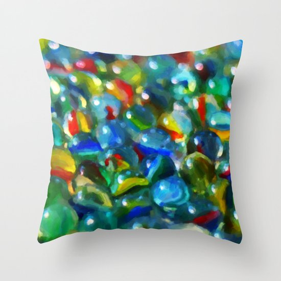 Marbles... Lost & Found - Painting Style Throw Pillow