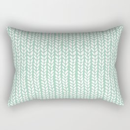 Knit Wave Mint Rectangular Pillow