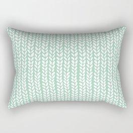 Knit Wave Mint Rectangular Pillow