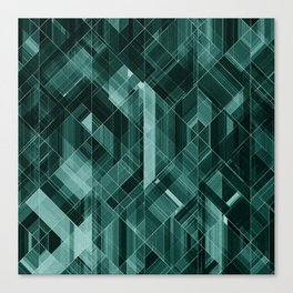 Abstract green pattern Canvas Print