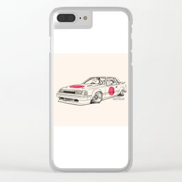 Crazy Car Art 0164 Clear iPhone Case